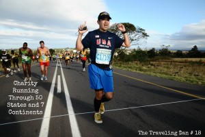 The Traveling Dan # 18 – Charity Running Through 50 States and 7 Continents